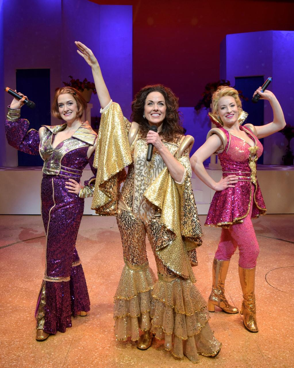 �mamma mia� on stage at westchester broadway theatre