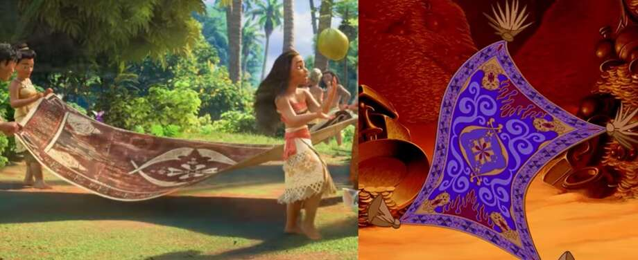 Easter eggsDirectors often briefly include references and secrets in their films.The best and most hidden movie Easter eggs Photo: Moana And Aladdin