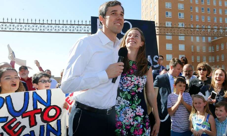 U.S. Rep. Beto O'Rourke on March 31, 2017 announces his candidacy for the U.S. Senate seat on the 2018 ballot. In his hometown of El Paso here, and in subsequent stops, he described the city as safest in America (Photo: El Paso Times). Photo: Ruben R. Ramirez
