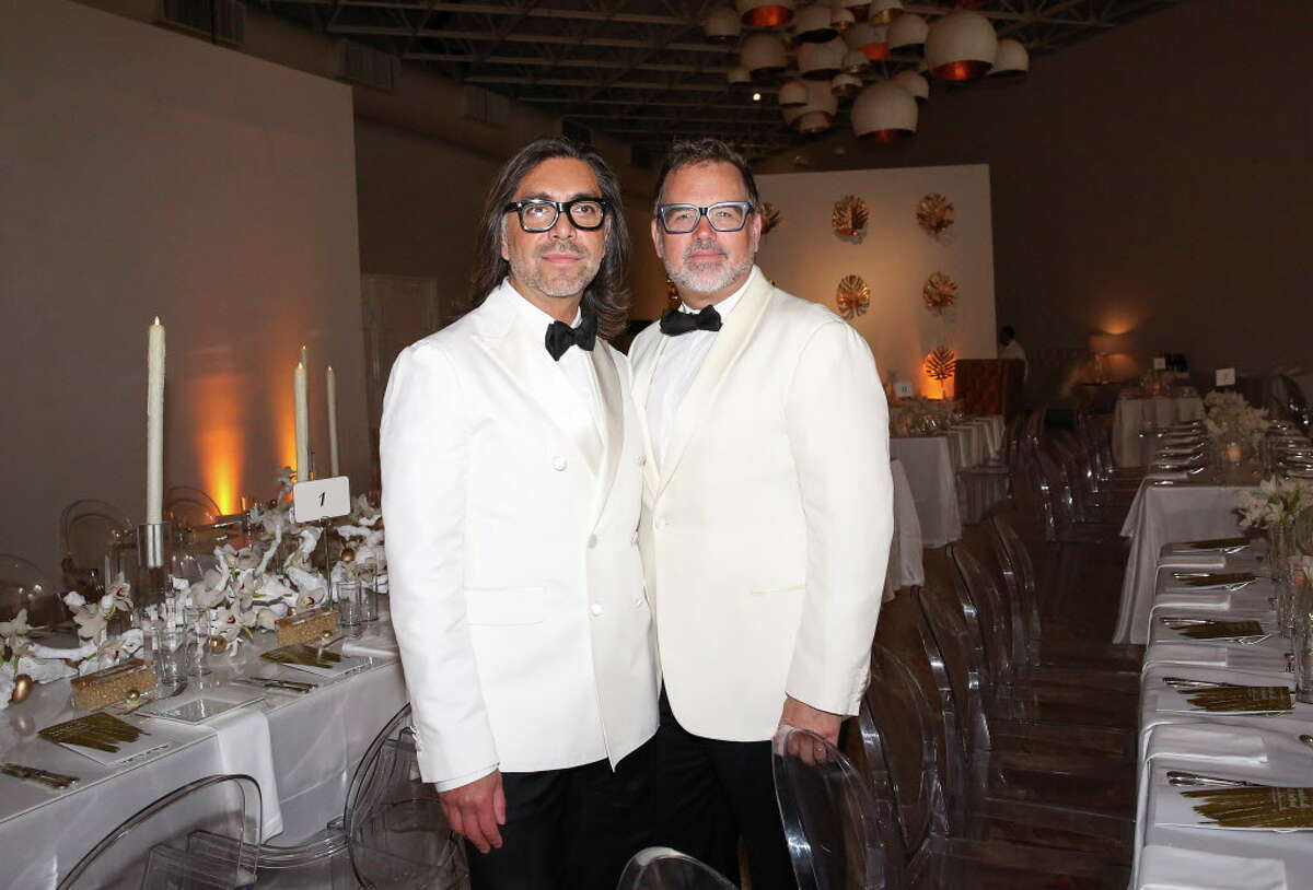 2017 Contemporary Arts Museum Houston Art Auction Gala Co-chairs Ceron and Todd Fiscus pose for a photo Friday, April 7, 2017, in Houston. ( Yi-Chin Lee / Houston Chronicle )