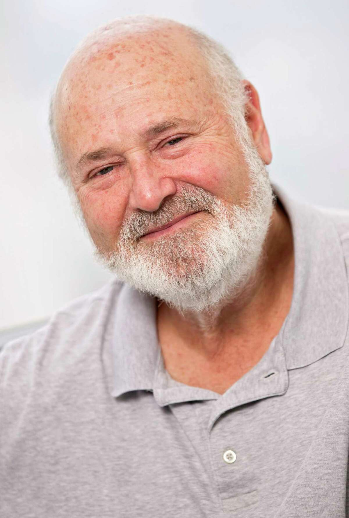 In this May 2, 2016 photo, writer-director Rob Reiner poses for a portrait in New York. Reiner has always had an affinity for the father-son story and has explored the theme and his own life in films like