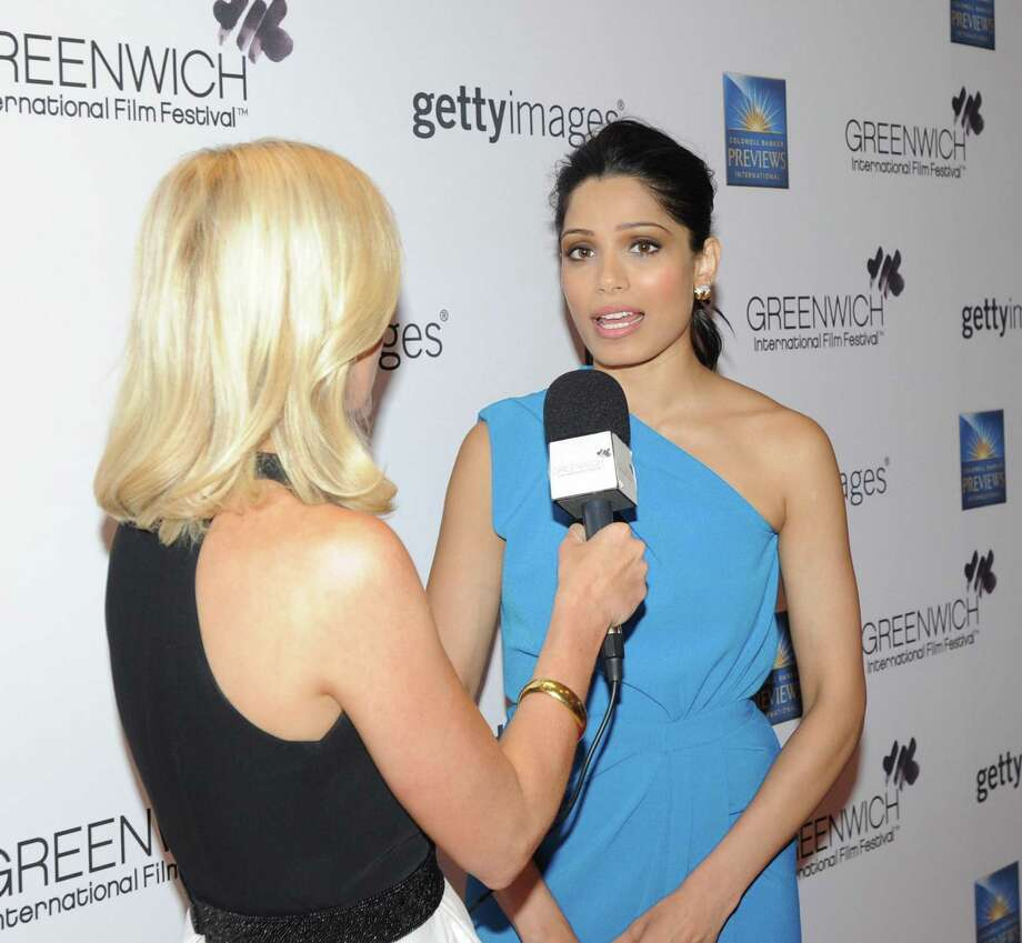 Actress Freida Pinto was honored at last year's Greenwich International Film Festival Changemaker Gala. In 2017, Oscar winner Renee Zelwegger and model Christy Turlington Burns are slated to be honorees. Photo: Bob Luckey Jr. / Hearst Connecticut Media / Greenwich Time