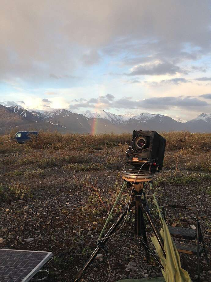 Chris McCaw's camera and gear in the Arctic Circle. Photo: Chris McCaw