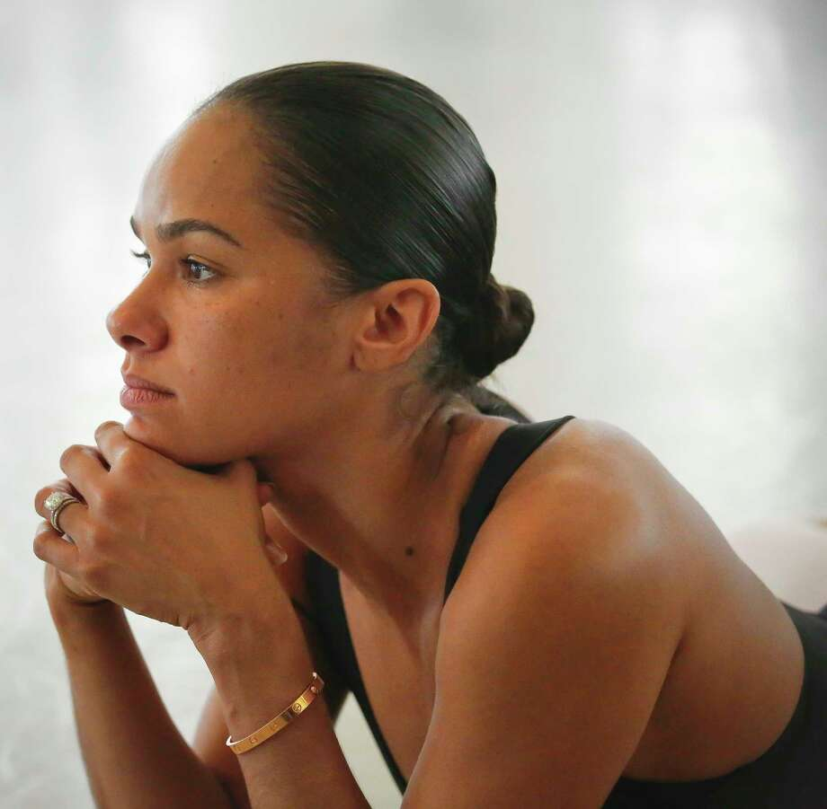 """In this March 21, 2017 photo, Misty Copeland, first African-American female principal dancer with the American Ballet Theatre, appears at the Steps on Broadway dance school in New York. Copeland's book, """"Ballerina Body: Dancing and Eating Your Way to a Leaner, Stronger, and More Graceful You,"""" compiles her advice for healthy living. (AP Photo/Bebeto Matthews) Photo: Bebeto Matthews, STF / Copyright 2017 The Associated Press. All rights reserved."""