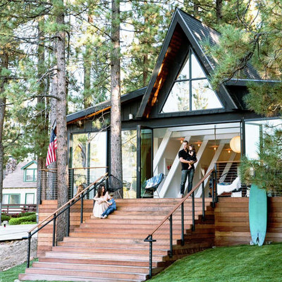 A frame cabin gets an a makeover sfgate for Modern a frame homes