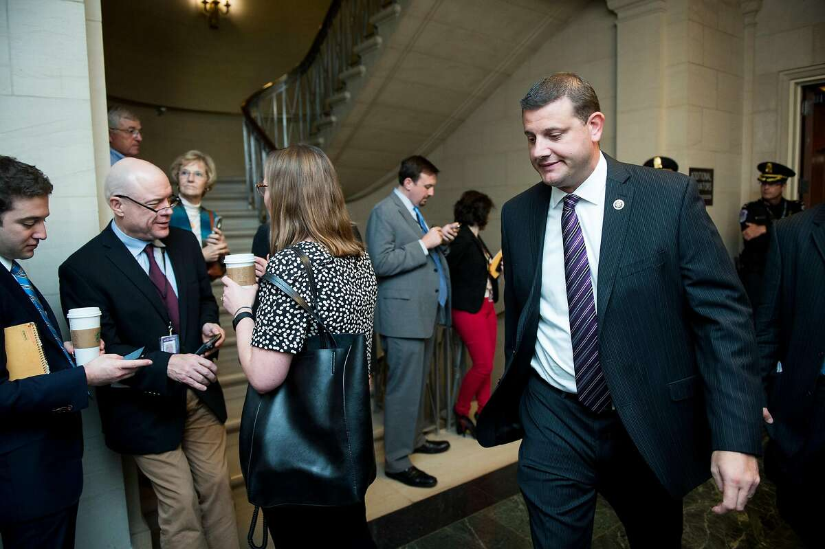 Then-GOP Rep. David Valadao on Capitol Hill in 2015. Valadao is trying to reclaim the San Joaquin Valley seat he lost to Democrat TJ Cox in 2018.