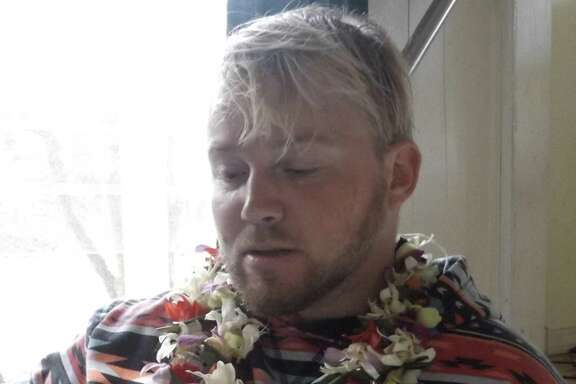 Oakland resident Caydie McCumber said her brother Graham McCumber, 32, (pictured) still requires his mother as a caretaker, needs a service dog for balance and suffers from short term memory problems after contracting rat lungworm disease in 2008.