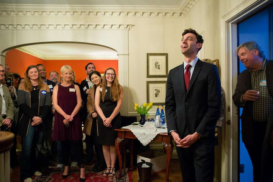 Democrat Jon Ossoff attends a campaign event Friday in suburban Atlanta. He is leading polls in the race to replace Tom Price, now the secretary of Health and Human Services. Photo: Kevin D. Liles, For The Washington Post