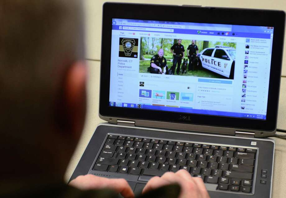 Lieutenant Terry Blake and The Norwalk Police Department make use of social media Wednesday, March 29, 2017, by posting on Twitter, Facebook and Instagram, to help them communicate with the community in Norwalk, Conn. Photo: Erik Trautmann / Hearst Connecticut Media / Norwalk Hour