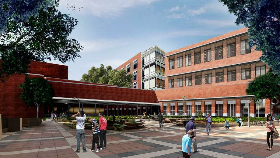 This artist rendition shows the $21.8 million administration building approved by trustees on Tuesday.  Photo: Courtesy