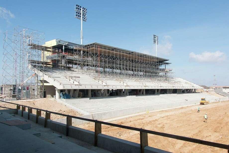 "Katy ISD Board of Trustees named the district's second stadium ""Legacy Stadium."" The field is named after Mike Johnson, longtime Katy High School football coach. Photo: Katy ISD / Katy ISD - Robert McSpadden"