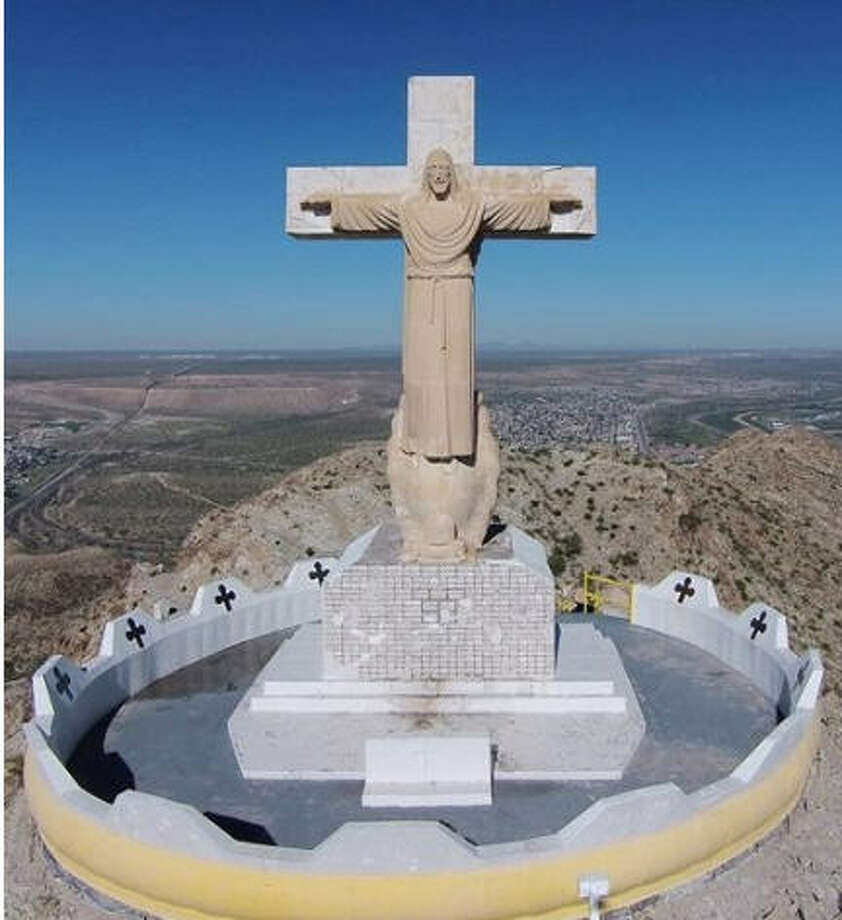 People annually make the Easter weekend trek up Mount Cristo Rey in Sunland Park, N.M., to see the 29-foot tall statue of Jesus. And, most times, the trip goes without incident. Photo: Sunland Fire Department