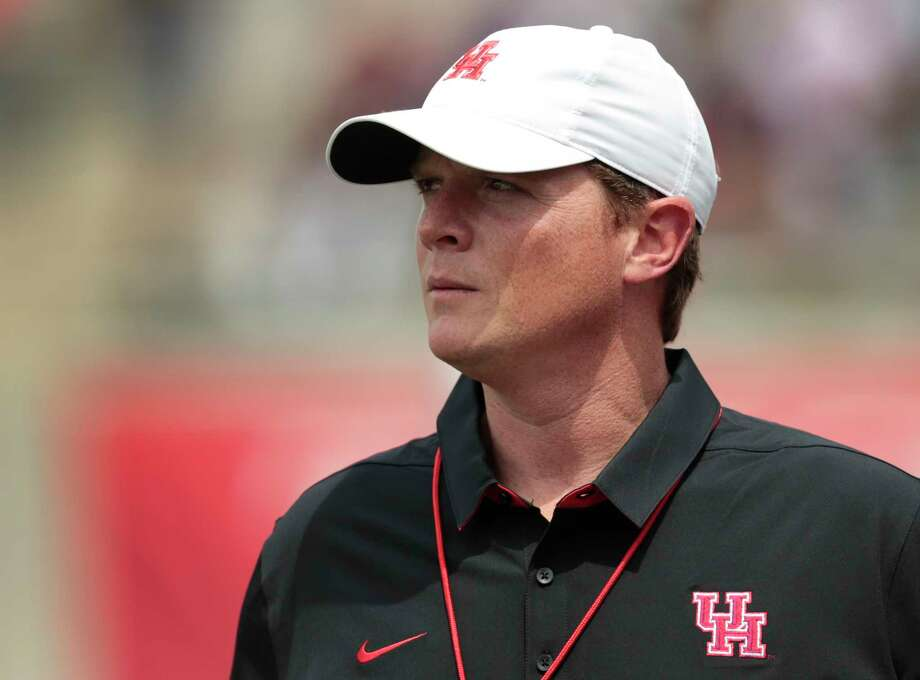 Houston head coach Major Applewhite watches his team play during the University of Houston Red-White Game at TDECU Stadium on Saturday, April 15, 2017, in Houston. Photo: Brett Coomer, Houston Chronicle / © 2017 Houston Chronicle