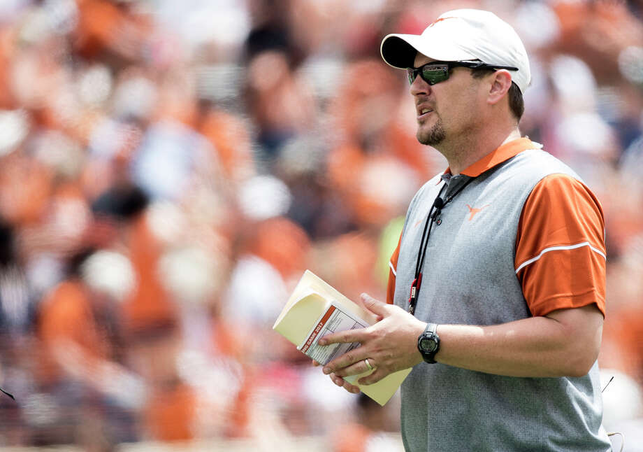 PHOTOS: Browse through the photos for Tom Herman's timeline at the University of HoustonTexas head coach Tom Herman looks on during the Orange and White spring NCAA college football game Saturday, April 15, 2017, in Austin, Texas. (Ricardo B. Brazziell/Austin American-Statesman via AP) Photo: Ricardo B.Brazziell, Associated Press / Austin American-Statesman