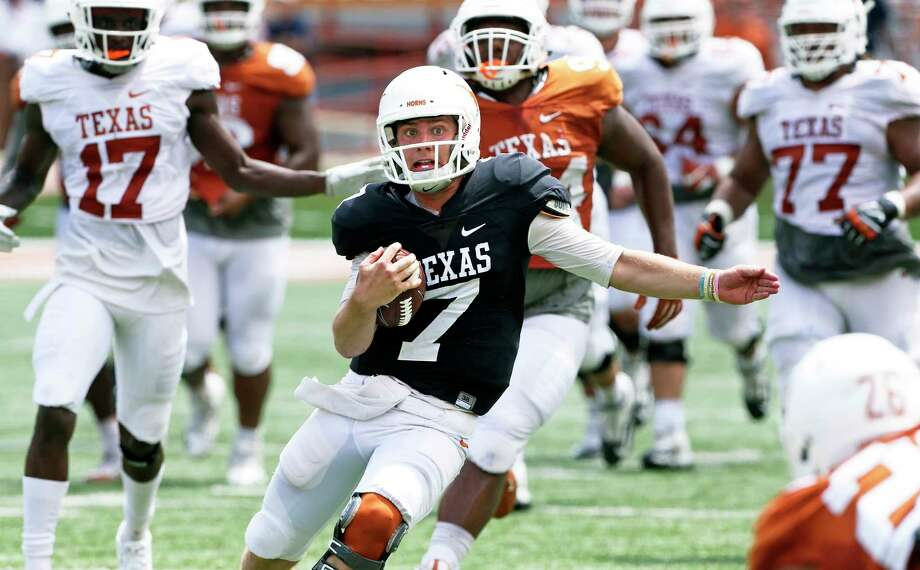 While new coach Tom Herman did not make an official announcement, Shane Buechele is the obvious choice to open the season at quarterback. Photo: Tom Reel, San Antonio Express-News / 2017 SAN ANTONIO EXPRESS-NEWS