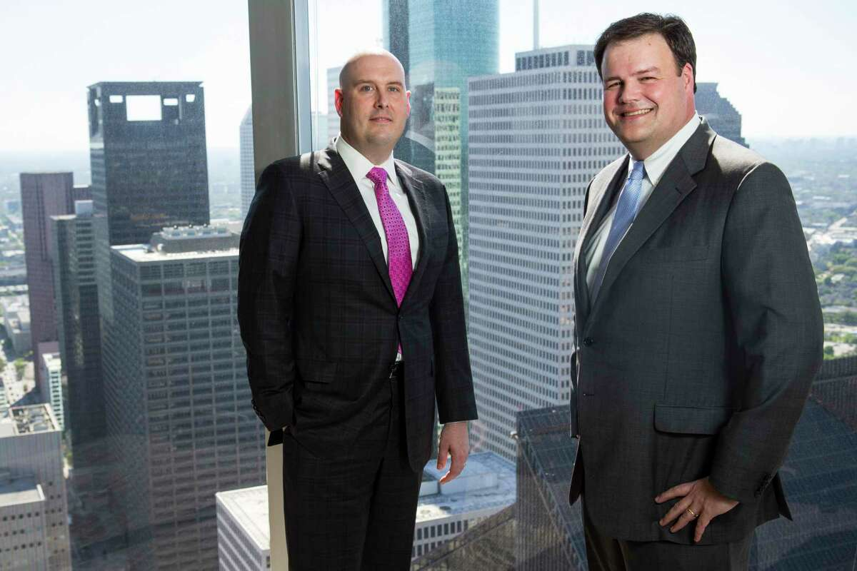 Ian Faria, left, and Jim Collura left Coats Rose to open a Houston office for Birmingham, Ala.-based Bradley, one of about two dozen firms that have opened offices here in the past five years.