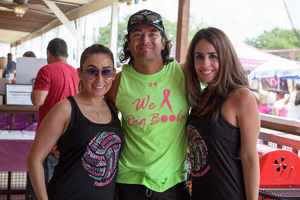 Volleyball lovers hit the sand of Sideliners Grill Saturday, April 15, 2017 for breast cancer awareness by competing in Fabooblicious' 6th Annual Sand Volleyball Tournament