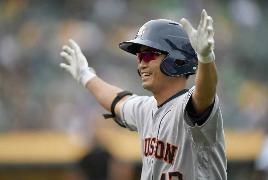 Astros manager A.J. Hinch moved left fielder Nori Aoki out of his customary nine-hole in the batting order Wednesday and inserted him in the No. 7 spot. Photo: Thearon W. Henderson, Getty Images / 2017 Getty Images