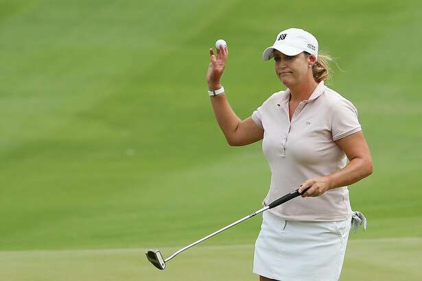 KAPOLEI, HI - APRIL 15:  Cristie Kerr reacts to a par putt on the ninth green during the final round of the LPGA LOTTE Championship Presented By Hershey at Ko Olina Golf Club on April 15, 2017 in Kapolei, Hawaii.  (Photo by Christian Petersen/Getty Images)