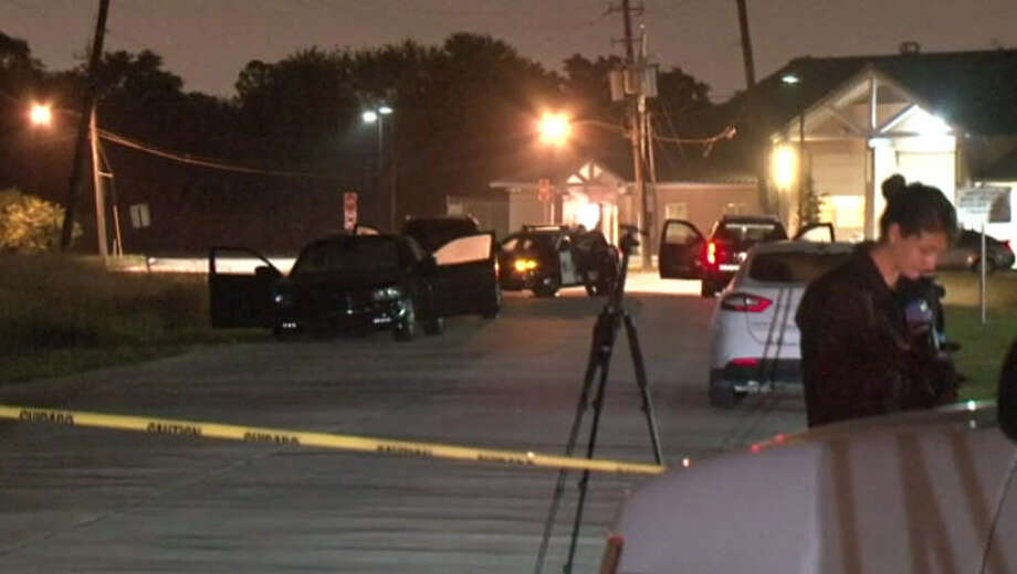 A man was found shot to death in the passenger seat of a rental car, according to police. Photo: Metro Video