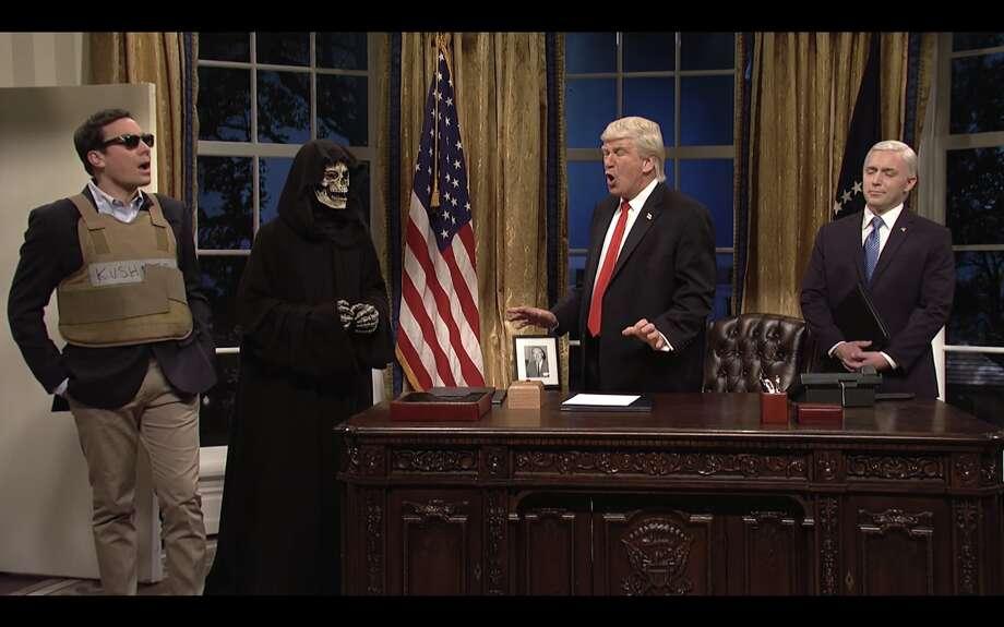 Jimmy Fallon guests as Jared Kushner on 'Saturday Night Live.' Photo: NBC