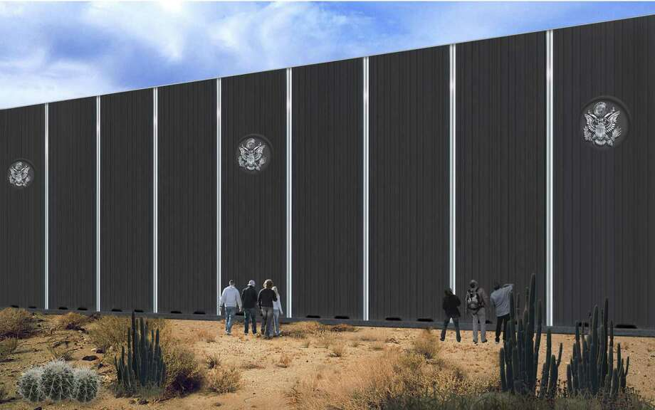 Renderings of border wall from Fort Worth-based Penna Group. Photo: Courtesy