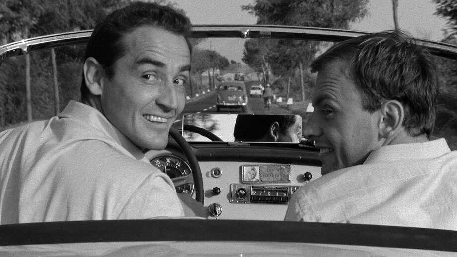 "Vittorio Gassman (left) and Jean-Louis Trintignant in Dino Risi's ""Il sorpasso"" (1962). Photo: Janus Films 1962"