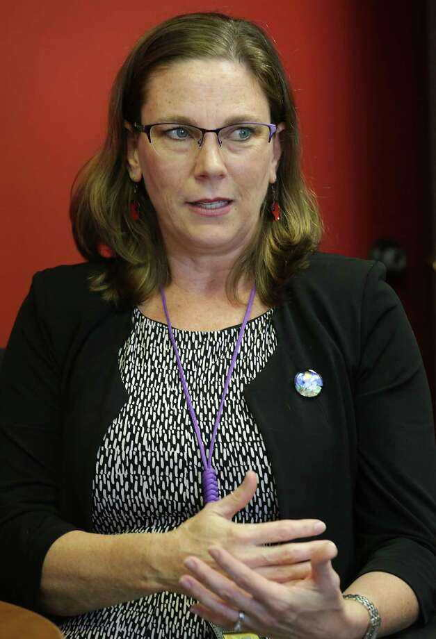 Colleen Bridger, the director of San Antonio Metropolitan Health District, spoke Tuesday about a new task force aimed at preventing prescription opioid addiction and overdoses. Photo: Bob Owen /San Antonio Express-News / ©2017 San Antonio Express-News