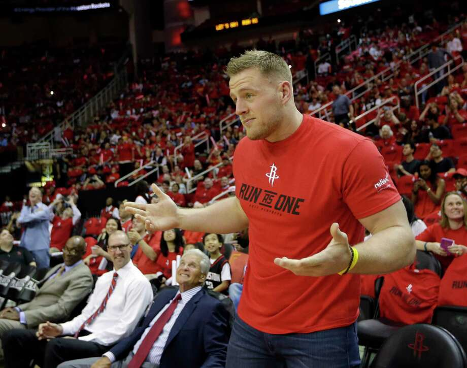"Top 10 J.J. Watt ""I'm not putting on a Rockets T-shirt"" excuses10. ""The only red I wear is Badger Red."" Photo: David J. Phillip, Associated Press / Copyright 2017 The Associated Press. All rights reserved."