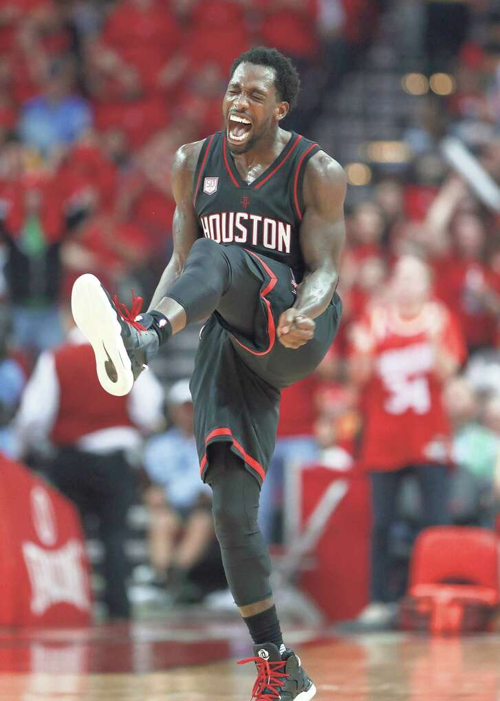 Rockets guard Patrick Beverley was in a high-stepping mood Sunday night, scoring 21 points on 8-of-13 shooting and adding 10 rebounds, three assists and two steals to help fuel a rout of the Thunder in Game 1.