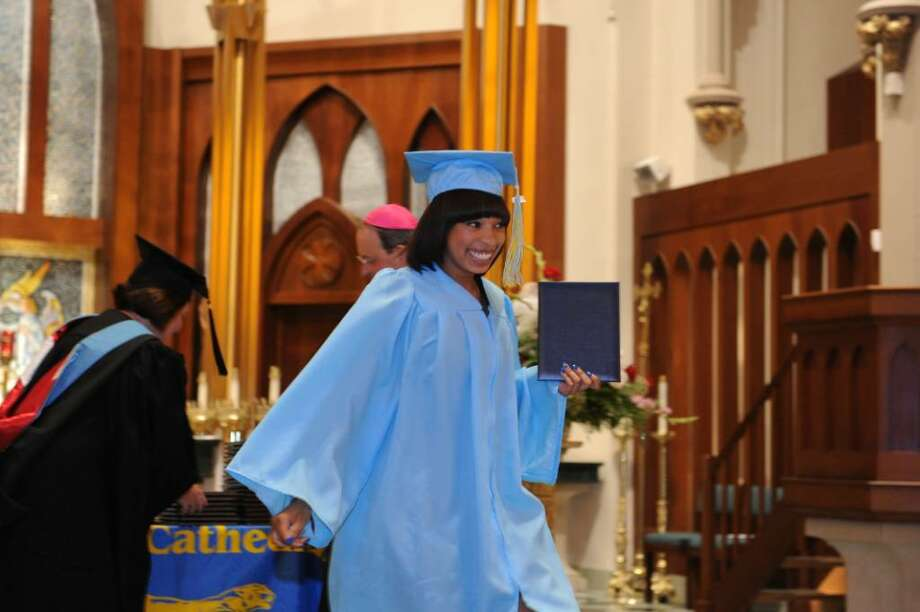 The 2010 Kolbe Cathedral High School graduation ceremony was held at St. Augustine Cathedral in Bridgeport on Thursday June 3. Photo: Autumn Driscoll / Connecticut Post