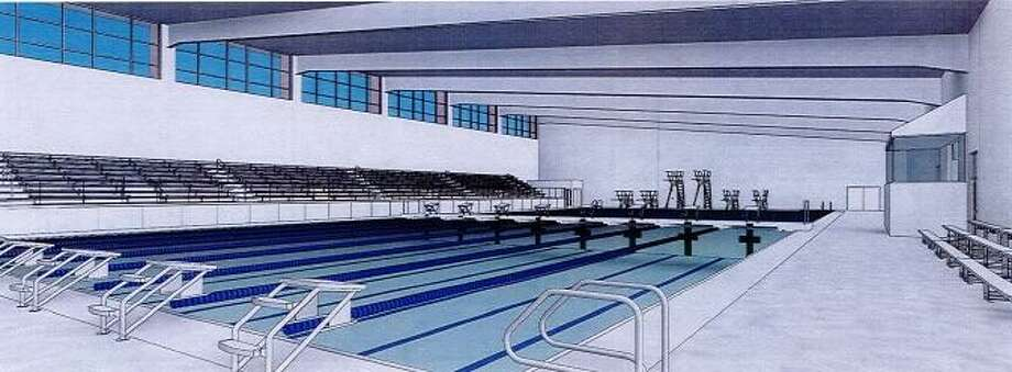 The 39,500-square-foot natatorium will have about 700 seats and cost about $17 million. Photo: /