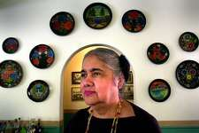 Alicia Guadiana has been a San Antonio icon in the Mexican food restaurant business for almost the past 40 years where she works as a hostess at La Fonda on Main. John Davenport / Staff