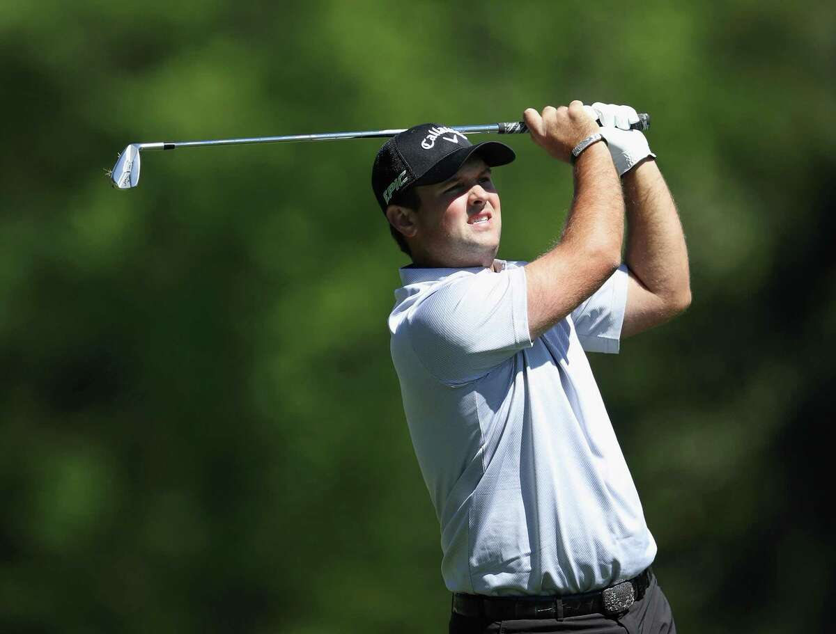 Patrick Reed of the United States plays his second shot on the fifth hole during the second round of the 2017 Masters at Augusta National Golf Club on April 7, 2017.