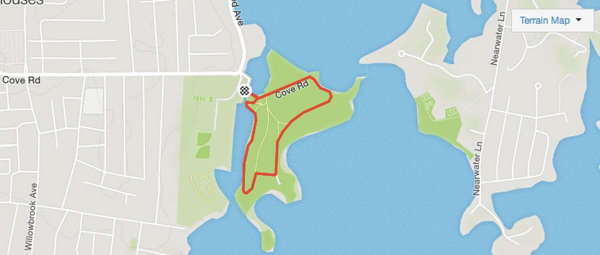 4. RUNNING: Cove Island Park, Stamford, CT Run type: Trail Distance: 1 mile Elevation gain: 0 ft. Est. moving time: 10:48 Source:Strava