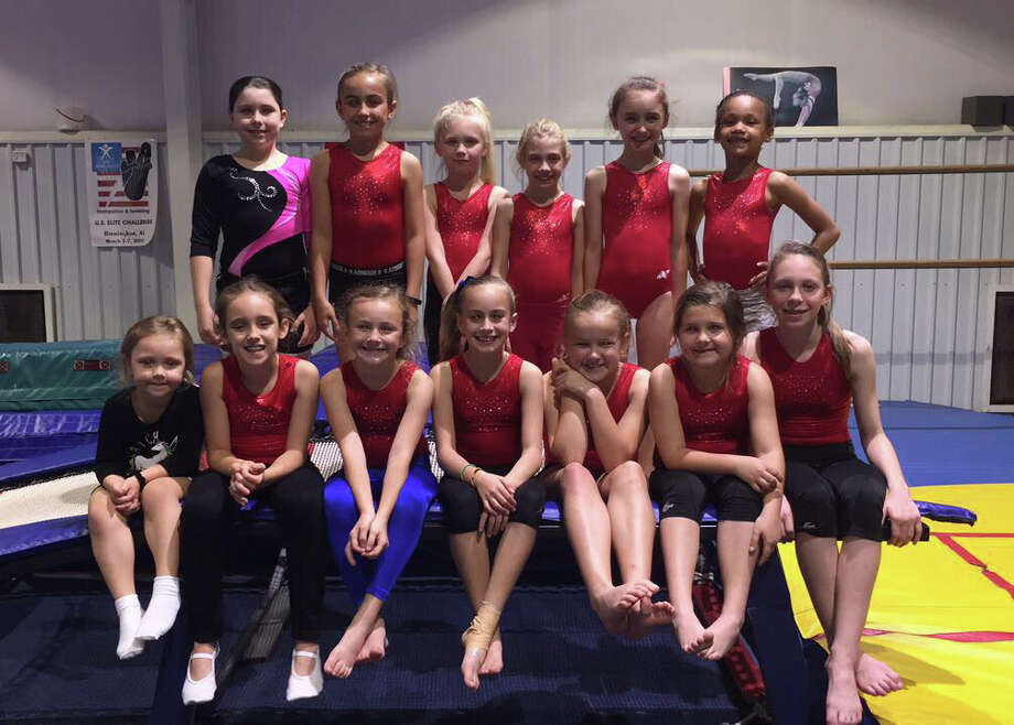 Gymnasts from Tarkington Athletic Center came home with awards from the South Texas T& State Championship Meet in League City on April 8-9. Photo: Submitted