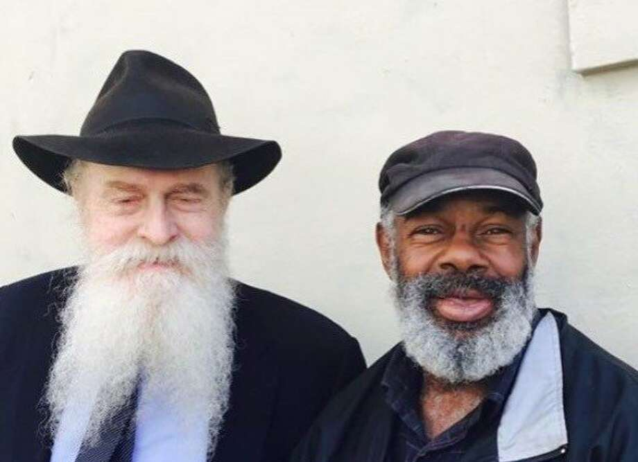 Rabbi and Marvin on Sixth Street Photo: Permission Of Josef Langer, Special To The Chronicle
