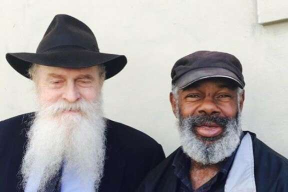 Rabbi and Marvin on Sixth Street
