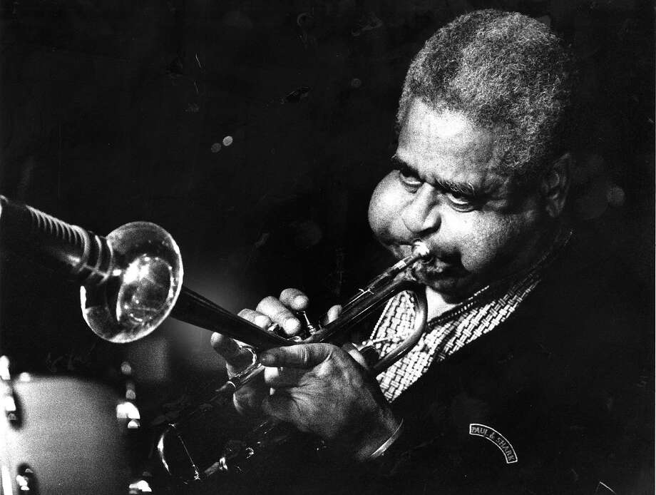 Horn player Dizzy Gillespie January 26, 1988 Photo ran1/28/1988, P. E1  (batch 1) Photo: John O'Hara, San Francisco Chronicle