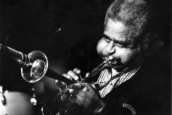 Horn player Dizzy Gillespie January 26, 1988 Photo ran1/28/1988, P. E1  (batch 1)
