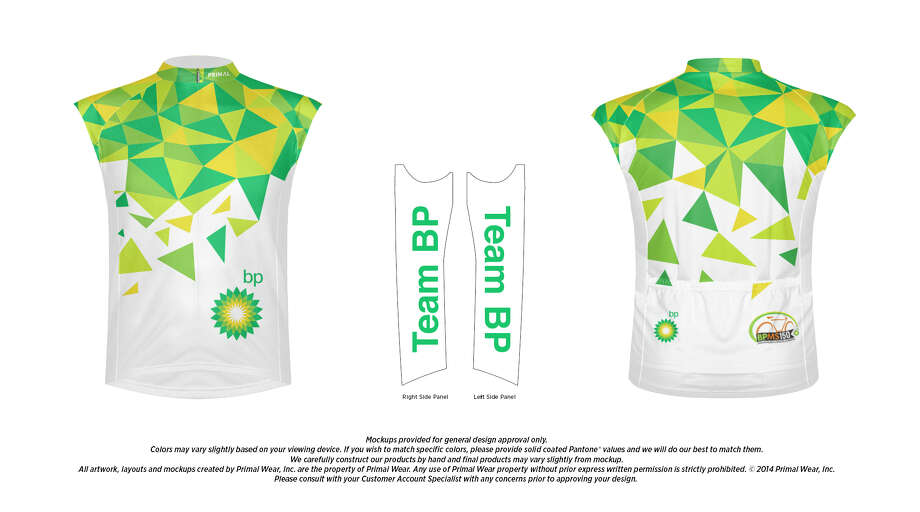A team jersey for the 2017 MS 150. About 13,000 bikers travel from Houston to Austin to raise money for the National MS Society. Photo: National MS Society
