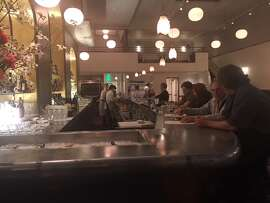 Pompette's new bar. The restaurant has opened in the former Cafe Rouge space in Berkeley. Photo via Pompette.