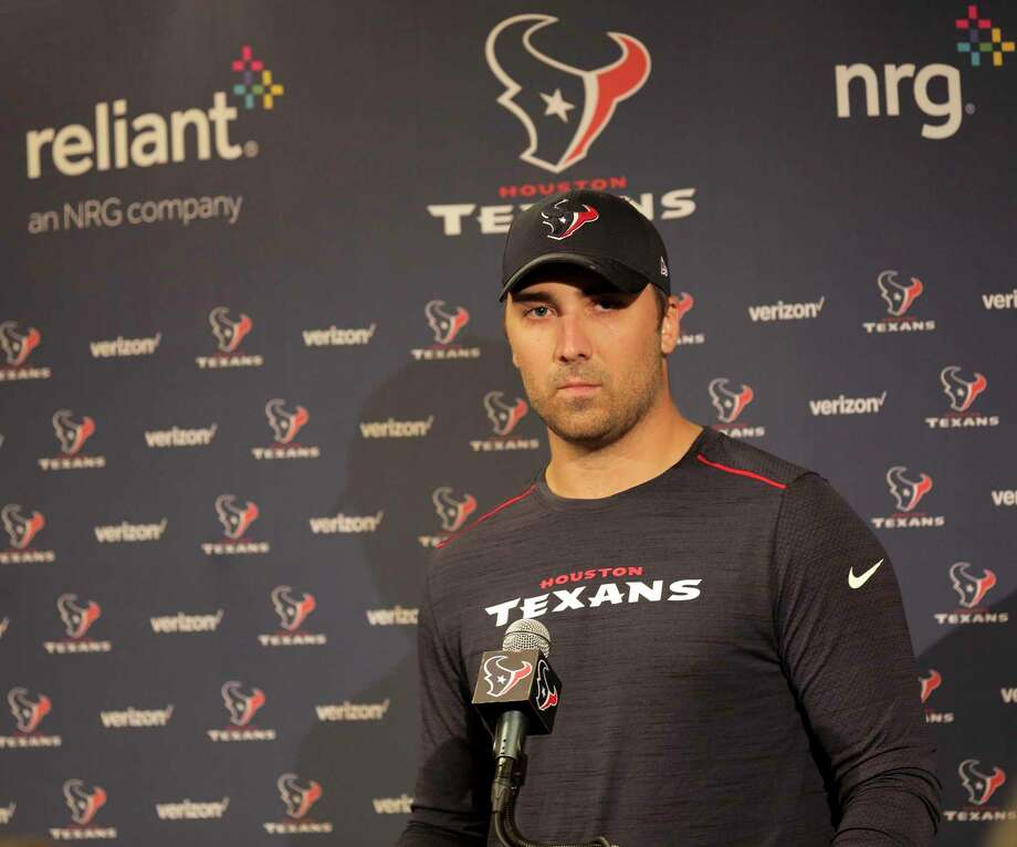 Texans quarter back Tom Savage talks to the media at NRG Stadium on Monday, April 17, 2017, in Houston. Photo: Elizabeth Conley, Houston Chronicle / © 2017 Houston Chronicle