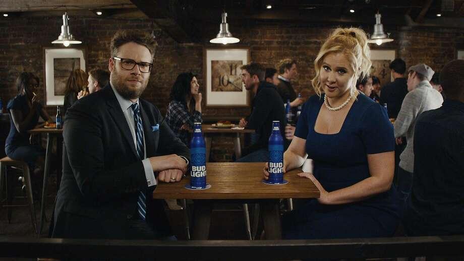 Anheuser-Busch's earlier Bud Light ads featured Seth Rogen and Amy Schumer. Photo: Anheuser-Busch, HANDOUT