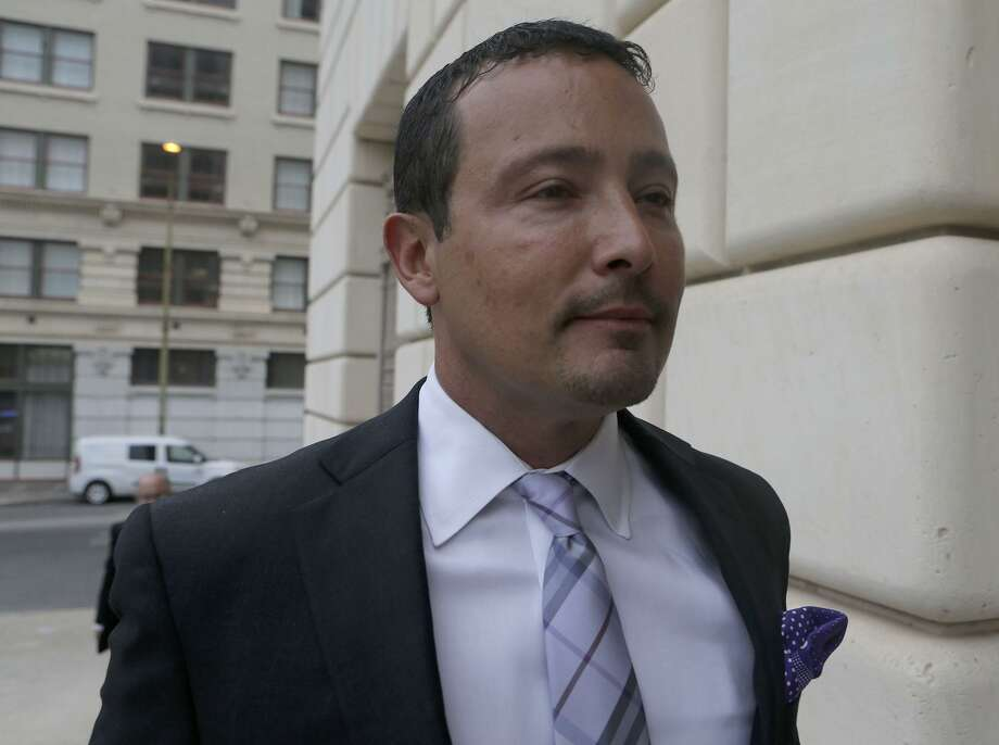 A bankruptcy judge on Thursday issued a bench warrant for the arrest of San Antonio oil and gas businessman Brian Alfaro. The judge had previously found Alfaro in contempt of court for failing to turn over various financial records and documents to a court-appointed receiver. Alfaro is shown heading to a U.S. Bankruptcy Court proceeding in 2017. Photo: Staff File Photo / ©San Antonio Express-News/John Davenport