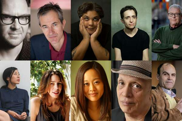 Authors attending this year's Bay Area Book Festival include (top row, from left) Cory Doctorow, Geoff Dyer, Roxane Gay, Masha Gessen, Cleve Jones and (second row) Katie Kitamura, Rachel Kushner, Krys Lee, Walter Mosley and Scott Turow.