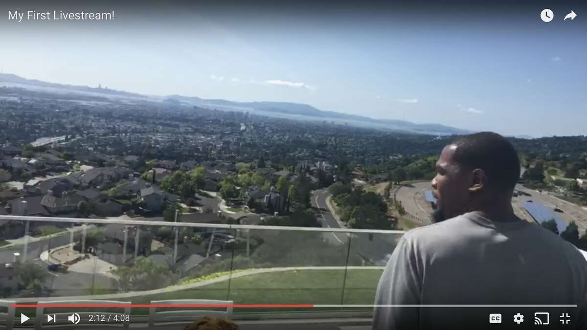 A screenshot from Kevin Durant's YouTube channel, showing his Bay Area home. Click ahead to see the vacation destinations where the Warriors spend their offseason vacations.