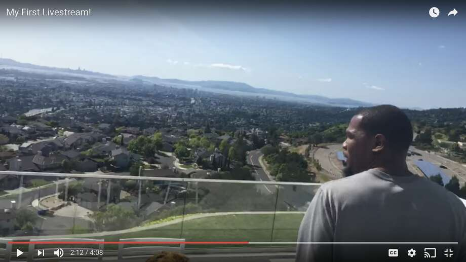 A screenshot from Kevin Durant's YouTube channel, showing his Bay Area home.Click ahead to see the vacation destinations where the Warriors spend their offseason vacations. Photo: Screenshot Via YouTube