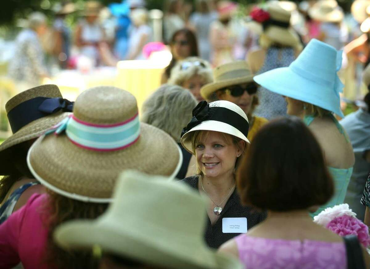 Hats, hats, everywhere at the annual Mad Hatter's Tea Party on Tuesday, May 25, 2010.
