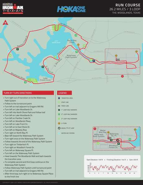 The Ironman run course.For a detailed look of the course, visit Ironman.com